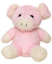 This pudgy little pink piggy is going to eat up all the attention you are going to get when you wear him in your hair.